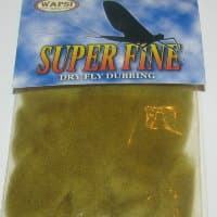 Даббинг Superfine dry fly dub golden olivе Wapsi / Metz