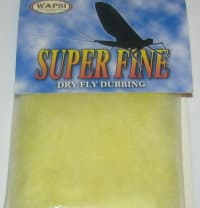 Даббинг Superfine dry fly dub  pale yellow Wapsi / Metz