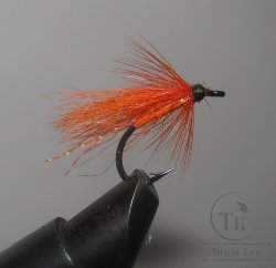 Муха форелевая Wet ( 10 ) Calf Tail ( Orange ) Kumho KH 10099 № 8