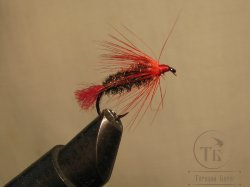 Муха Soft Hakle ( 19 ) Peacock Red кр. № 10