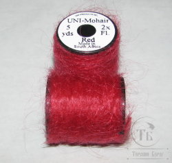 UNI - Mohair 5 yds 2x Red
