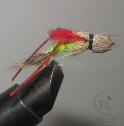 Муха Кузнечик ( 9 ) Hopper Grizzly Sili Legs  кр. Stim. № 10