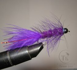 Муха Woolly Bugger  purple № 6