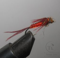 Муха нимфа Lt ( 1 ) Pheasant tail Red nymph № 10