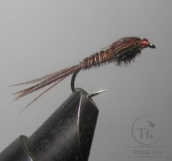 Муха нимфа Lt ( 4 ) Pheasant tail Brown nymph № 12