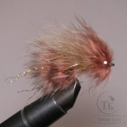 Муха Streamer DDH Leech ( 6 ) Nymph Grizzly Frede Wanabee  кр. Nymph № 6