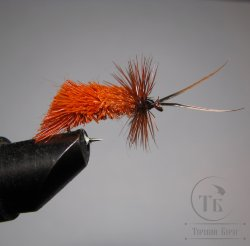 Mуха (4) Goddard Caddis Orange Kumho № 10