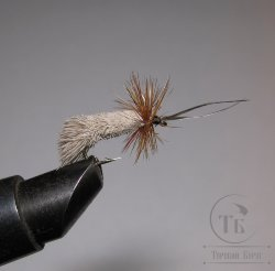 Mуха (10) Goddard Caddis Natural / Brown Kumho № 14