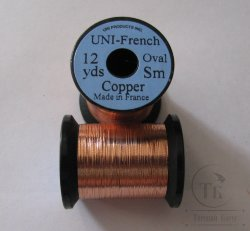 овальный люрекс  UNI french oval  12 yds  sm. copper