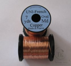 овальный люрекс  UNI french oval  7 yds md. copper