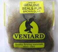 genuine seals fur Veniard brown olive