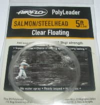 5 ft (1.5 m) polyleader salmon steelhead  24 lb (10.9 kg) clear floating Airflo
