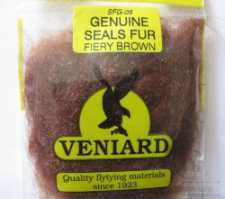 genuine seals fur Veniard fiery brown