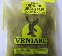 genuine seals fur Veniard golden olive