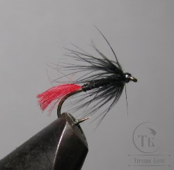 Муха  Red Tag ( 11 ) Soft Hackle Black  № 14