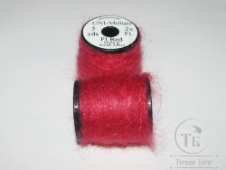 UNI - Mohair 5 yds 2x Fl. Red
