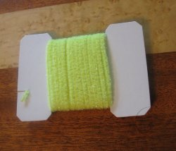 wooly bugger chenille small  fl yellow