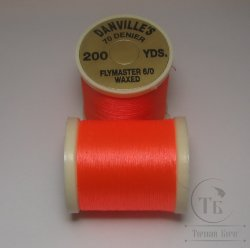 "монтажная нить DANVILLE""S waxed flymaster 6/0  70 den 200 yds fl. orange №"
