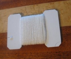wooly bugger chenille medium  white