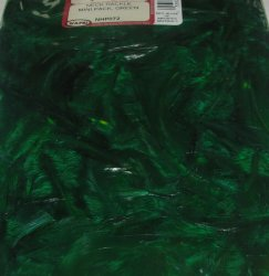 Перья скальпа петуха  Neck Hackle Mini Pack Green Wapsi