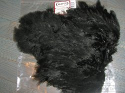 Soft Hackle Marabou Patch Black Wapsi