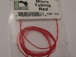 Micro Tubing Red Hareline