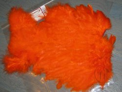 Soft Hackle Marabou Patch Orange Wapsi