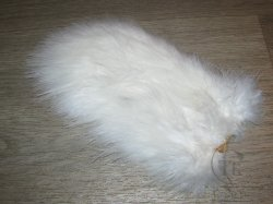 Перо петуха спей / 1/2 Soft Hackle (Spey Chicabou Feathers Lg. Md. Sm)  White