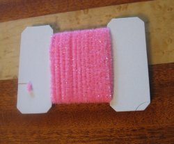 wooly bugger chenille small fl pink