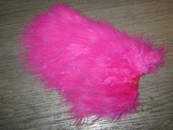 Перо петуха спей /  1/2 Soft Hackle(Spey Chicabou Feathers Lg. Md. Sm)   Fl. Pink