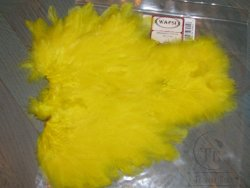 Перо курицы Soft Hackle Marabou Patch Yellow Wapsi