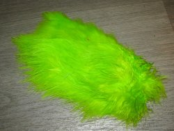 Перо петуха спей /  1/2 Soft Hackle (Spey Chicabou Feathers Lg. Md. Sm)  Fl. Green Chart.