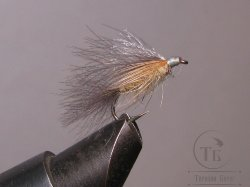Муха CDC 026 A  caddis grey / yellow olive № 14