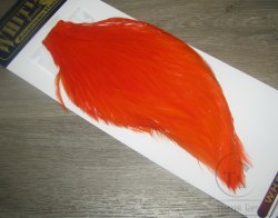 Скальп петуха  Whiting American Rooster Cape  Orange (hot orange)