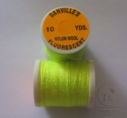 Danvilles fluorescent nylon wool fl yellow