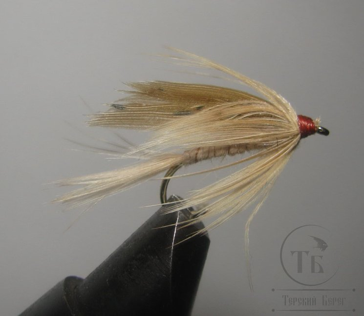 Муха мокрая Wet fly ( 7 ) Ginger  Brown крючок № 10 ( Kumho Wet)