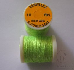 Danvilles fluorescent nylon wool fl green