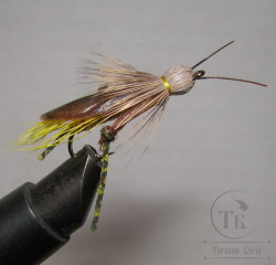 Муха Кузнечик ( 13 ) Hopper Brown Yellow кр. Nymph № 6