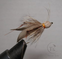 Муха Кузнечик ( 14 ) Hopper Brown Orange кр. Nymph № 6
