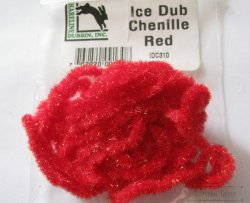 Синель Ice Dub Red Hareline / Orvis
