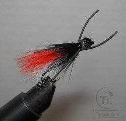 Муха Кузнечик ( 15 ) Hopper Black Red кр. Nymph № 6