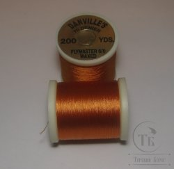 "монтажная нить DANVILLE""S waxed flymaster 6/0  70 den 200 yds  orange № 7"